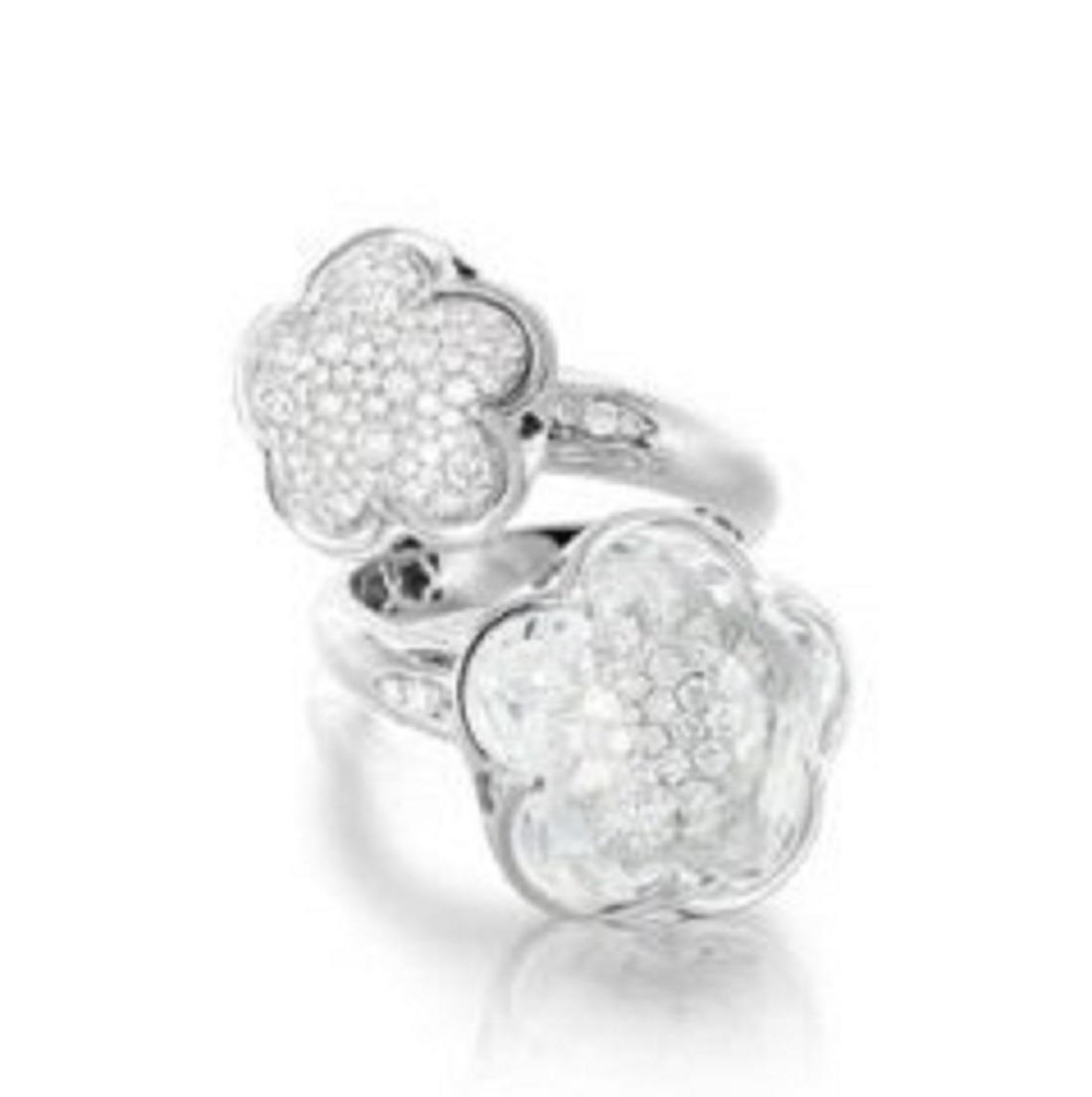 Anello con diamanti e cristallo di rocca - PASQUALE BRUNI