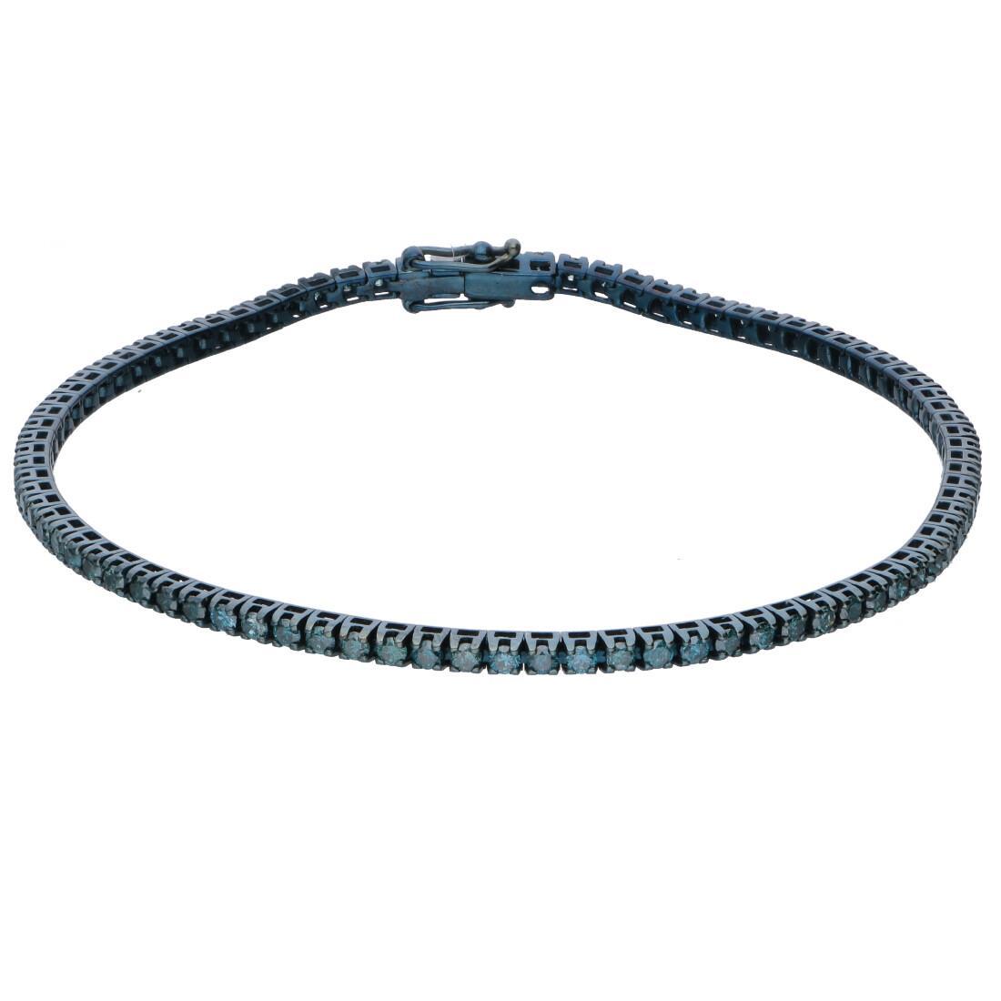 Bracciale tennis con diamanti blu - ALFIERI & ST. JOHN