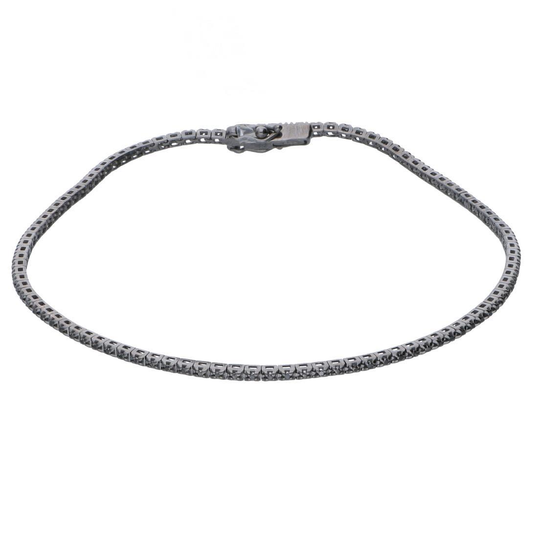 Bracciale tennis con diamanti neri - ALFIERI & ST. JOHN