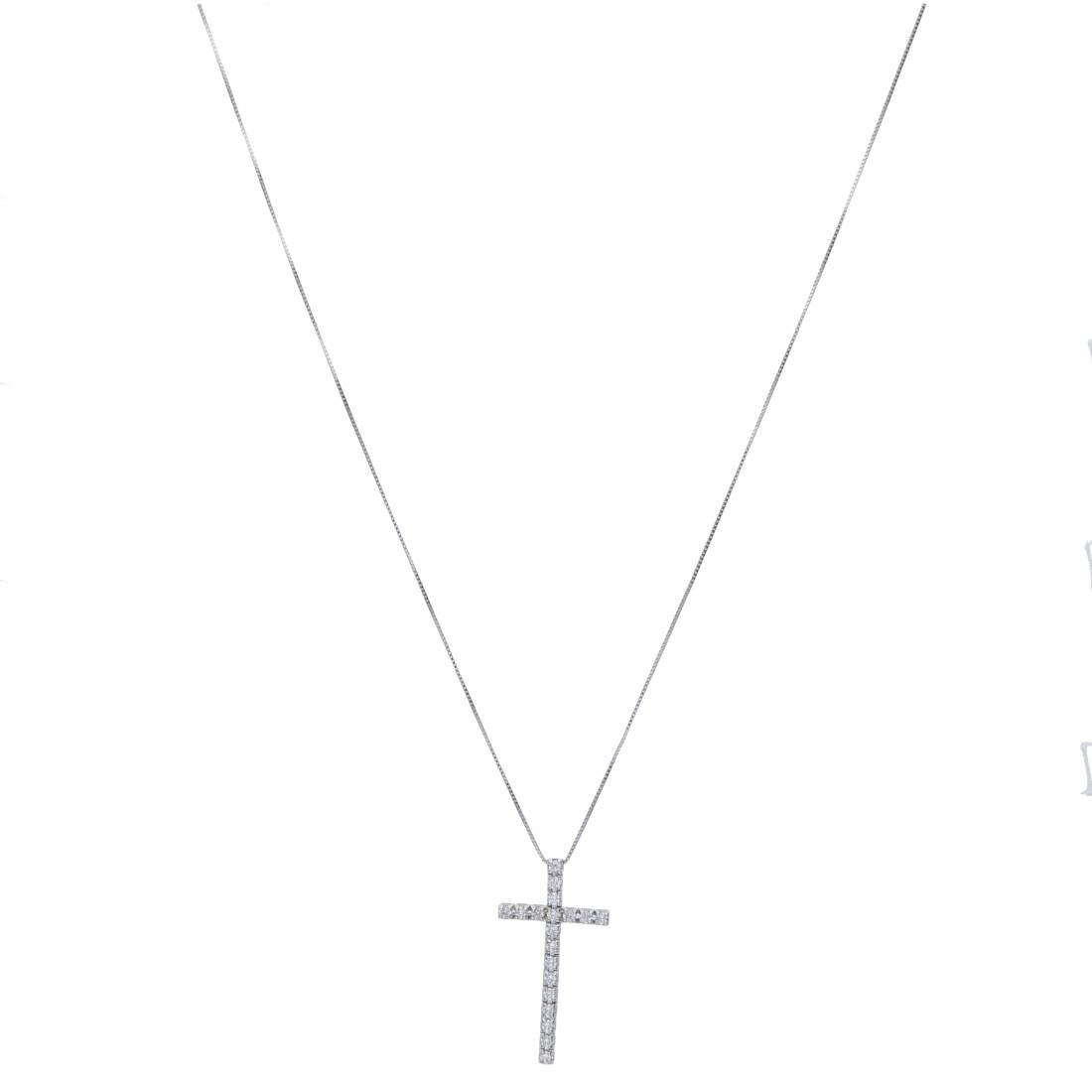 Collana croce con diamanti bianchi - ALFIERI & ST. JOHN