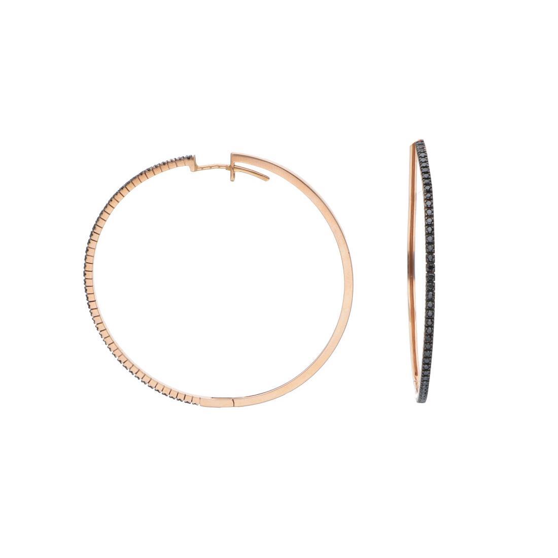 Orecchini a cerchio con diamanti neri - ALFIERI & ST. JOHN
