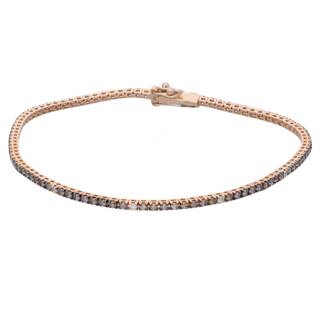Bracciale tennis con diamanti brown - ALFIERI & ST. JOHN