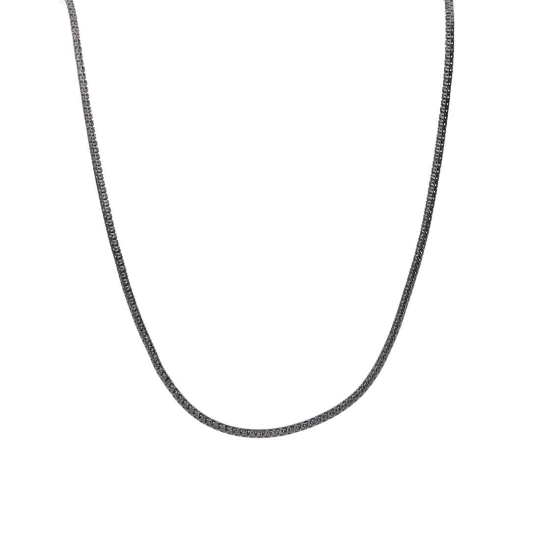 Collana tennis con diamanti neri - ALFIERI & ST. JOHN