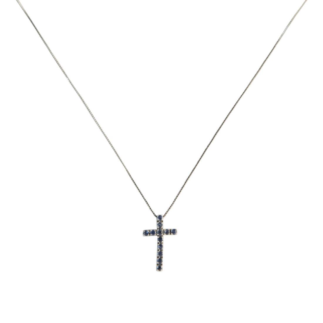 Collana croce con zaffiri - ALFIERI & ST. JOHN