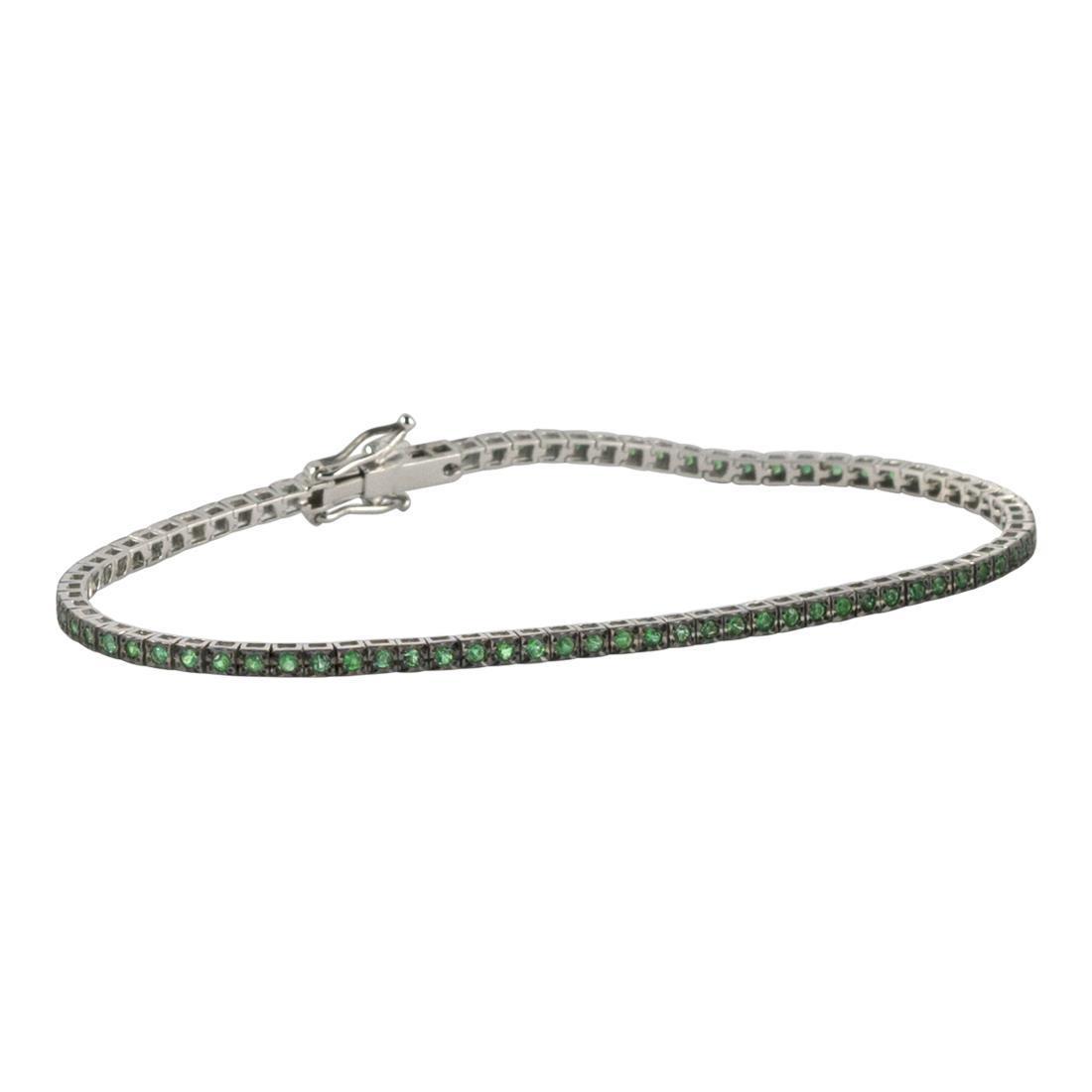 Bracciale tennis con smeraldi - ALFIERI & ST. JOHN
