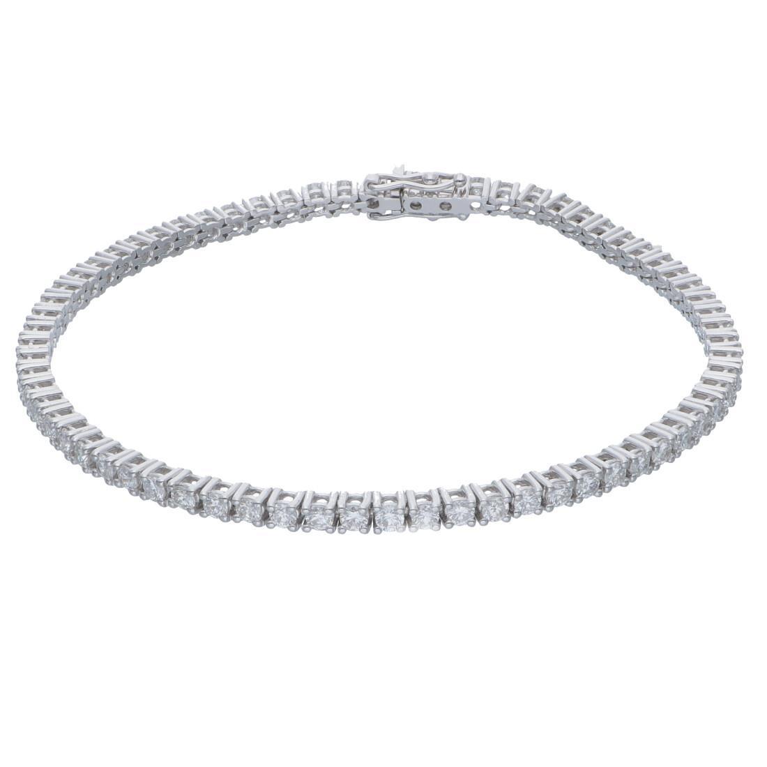 Tennis bracelet with diamonds ct 2,62 - ALFIERI & ST. JOHN