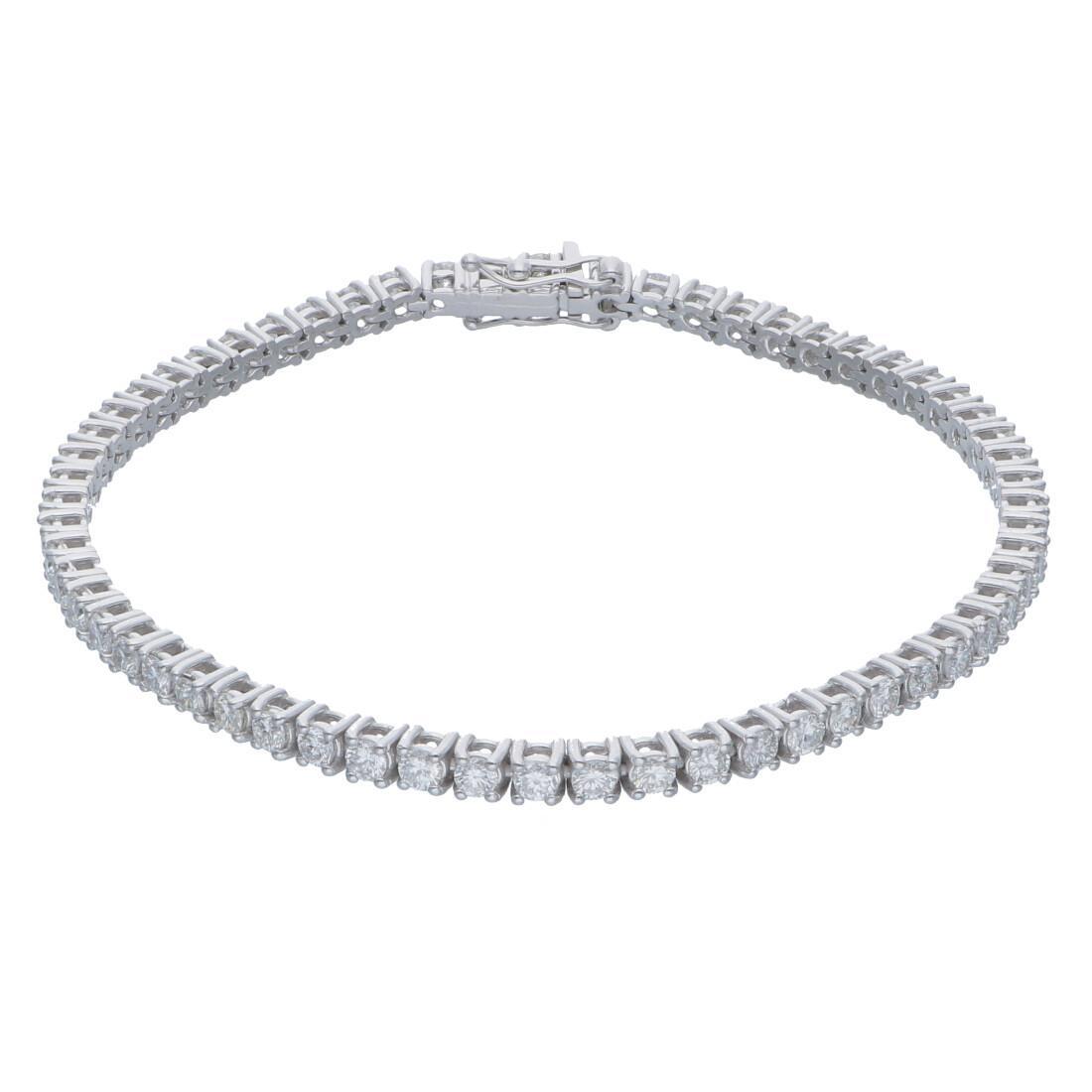 Bracciale tennis con diamanti ct 3,01 - ALFIERI & ST. JOHN