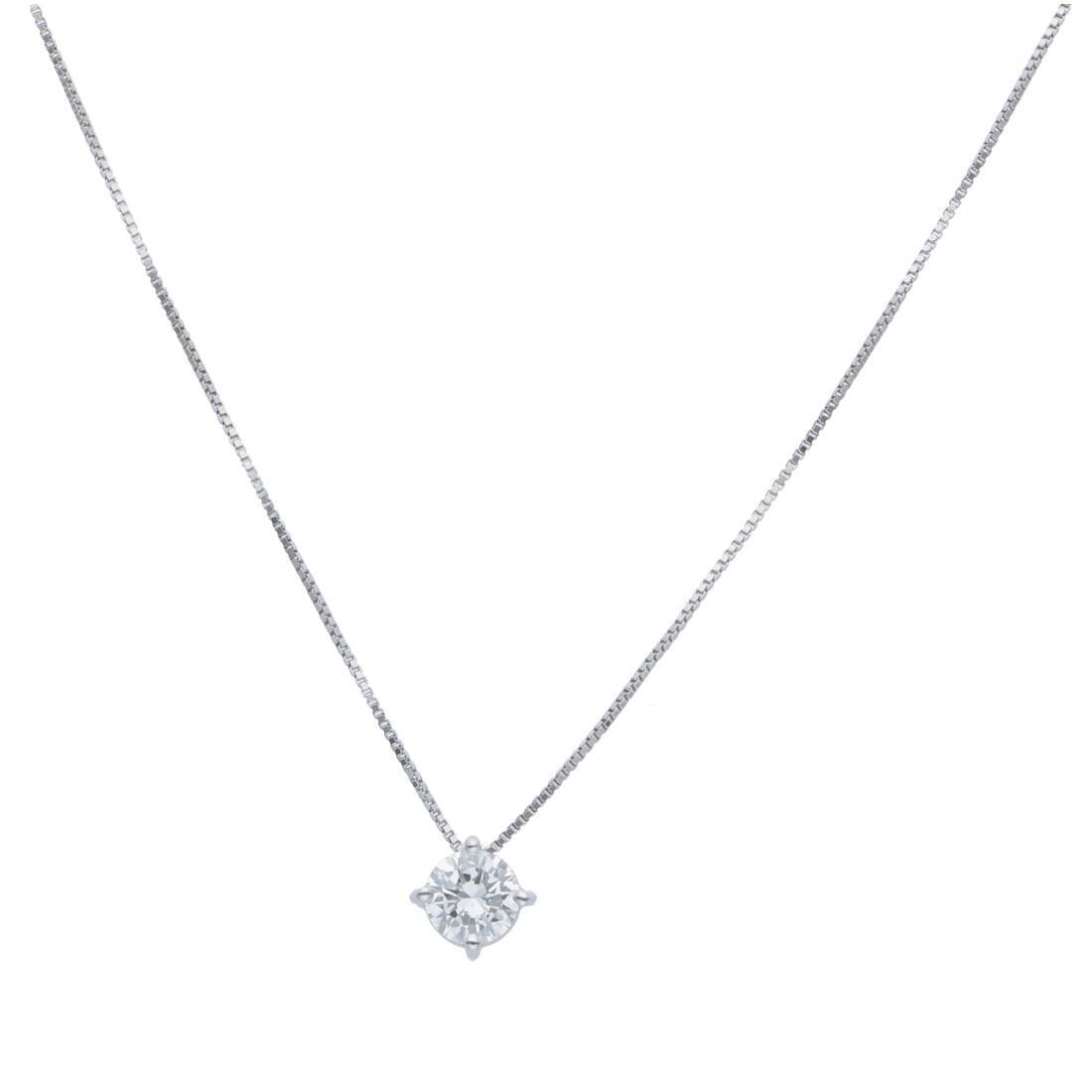 Collana punto luce con diamanti ct 0,32 - ALFIERI & ST. JOHN