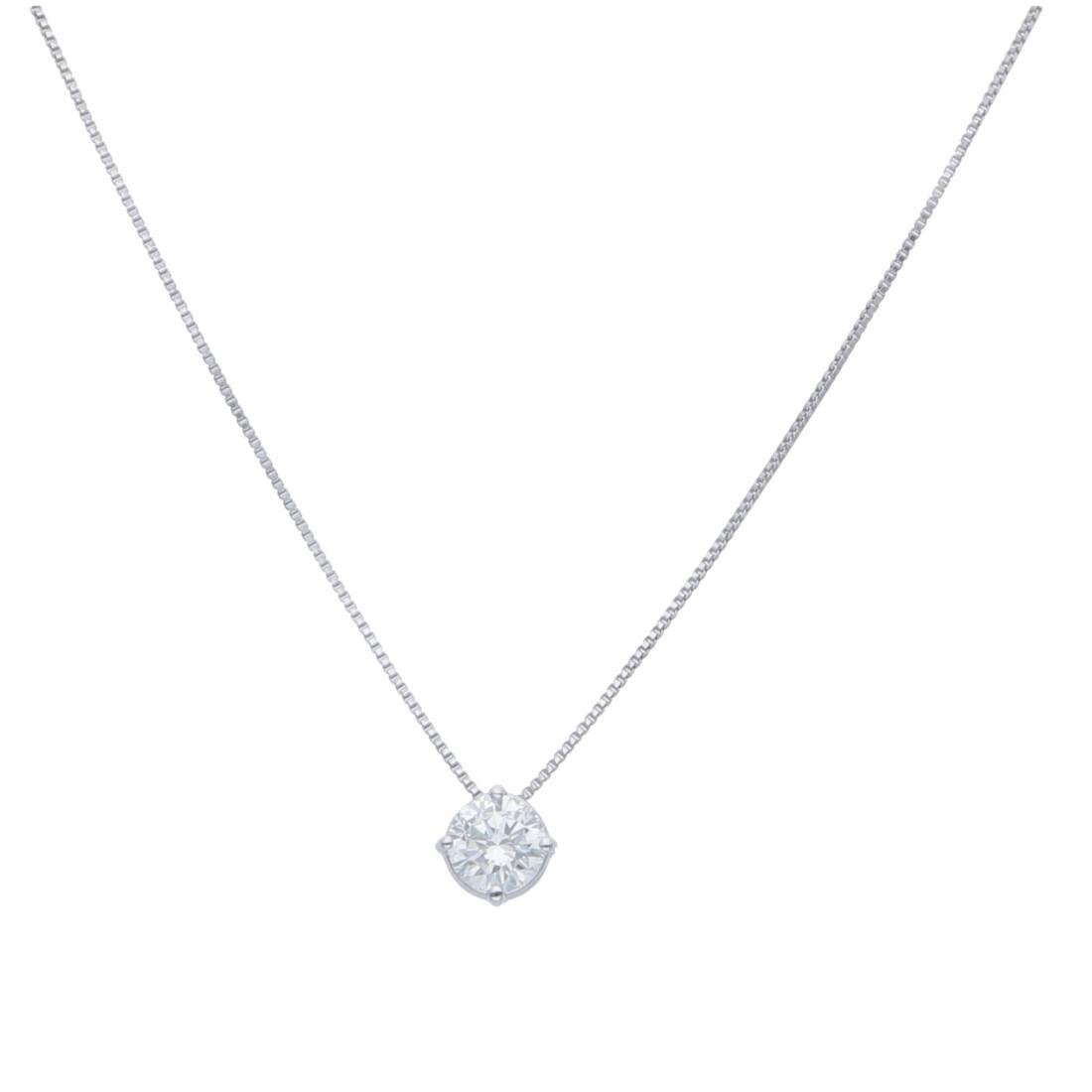 Collana punto luce con diamanti ct 0,45 - ALFIERI & ST. JOHN