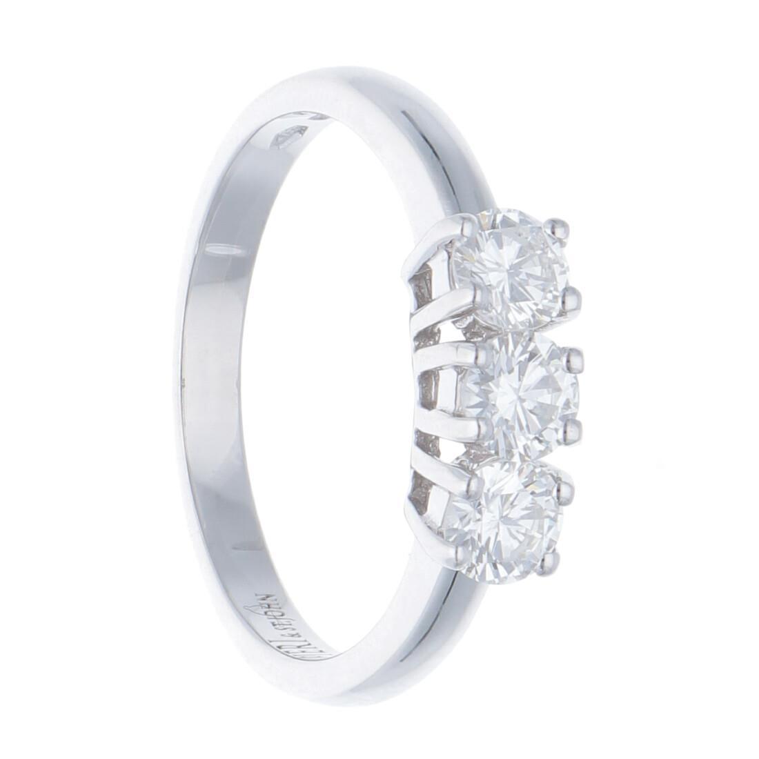 Anello trilogy con diamanti - ALFIERI & ST. JOHN