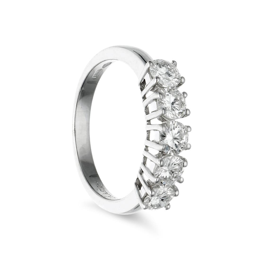 Anello verettacon diamanti  - ALFIERI & ST. JOHN