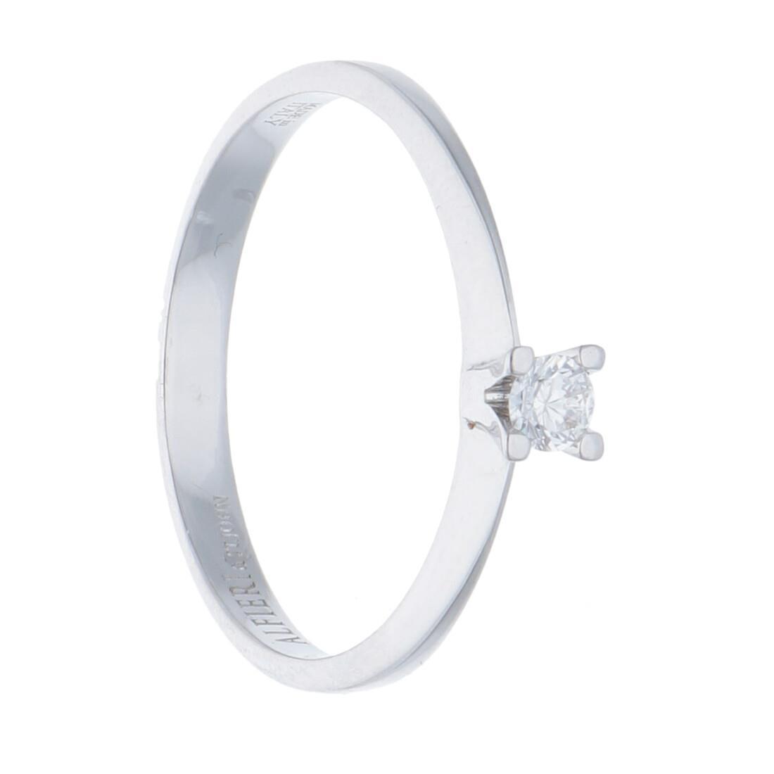 Anello solitario con diamante - ALFIERI & ST. JOHN