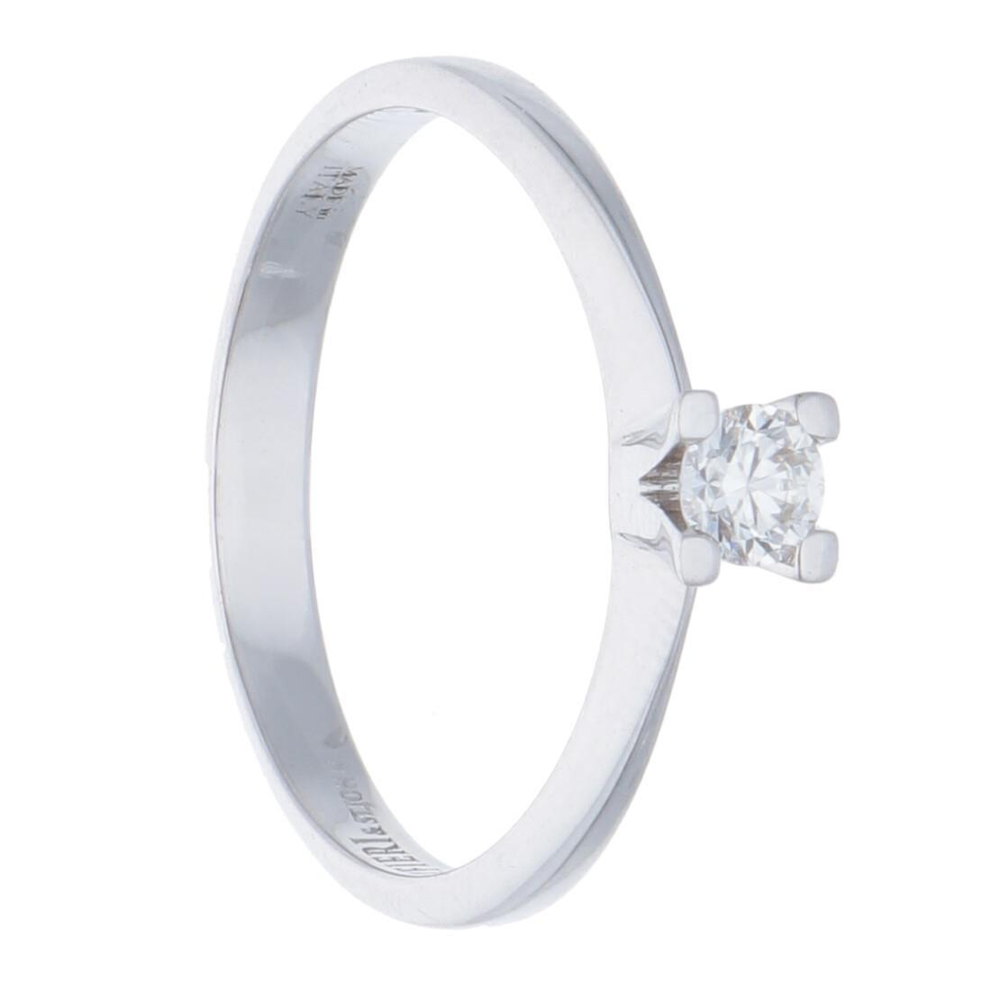 Anello solitario con diamanti ct 0,15 - ALFIERI & ST. JOHN