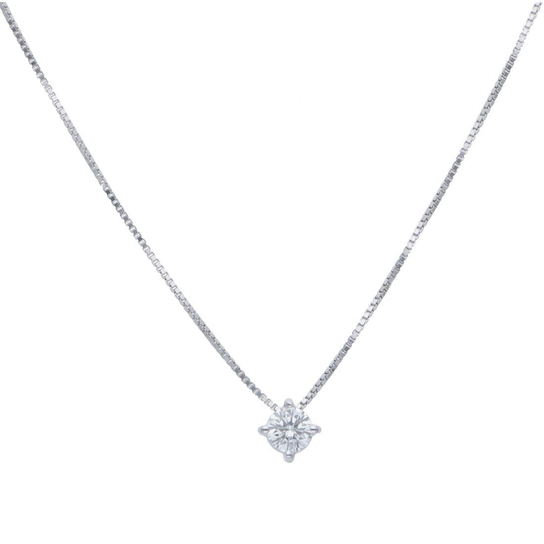 Collana punto luce con diamanti ct 0,06 - ALFIERI & ST. JOHN