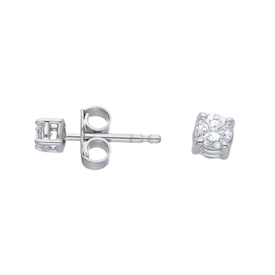 Orecchini punto luce con diamanti ct 0,16 - ALFIERI & ST. JOHN