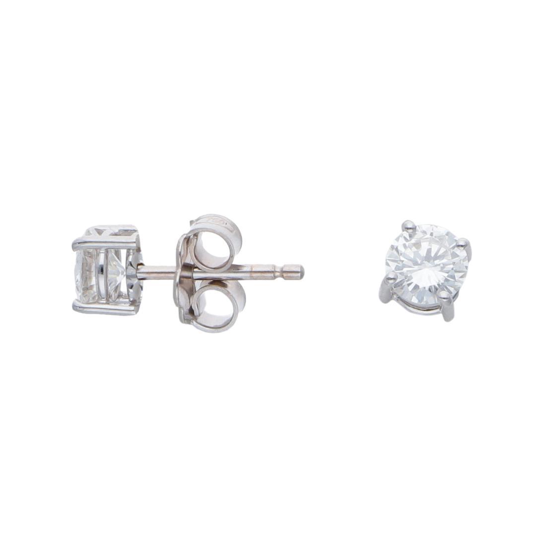 Orecchini punto luce con diamanti ct 0,84 - ALFIERI & ST. JOHN