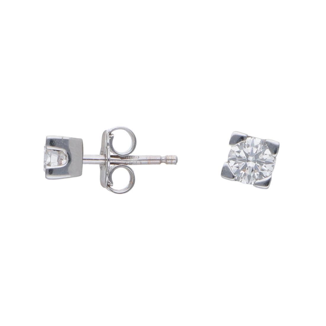 Orecchini punto luce con diamanti ct 0,49 - ORO&CO