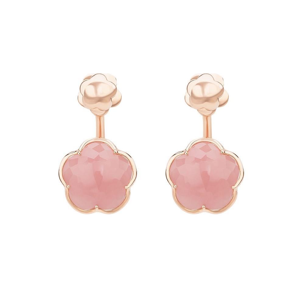 Orecchini con calcedonio rosa - PASQUALE BRUNI