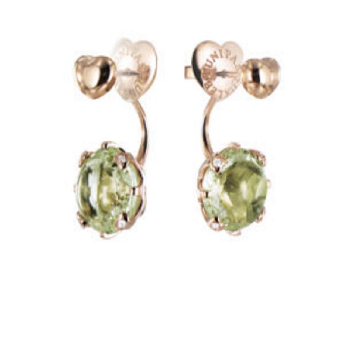 Orecchini design con diamanti e prasolite - PASQUALE BRUNI