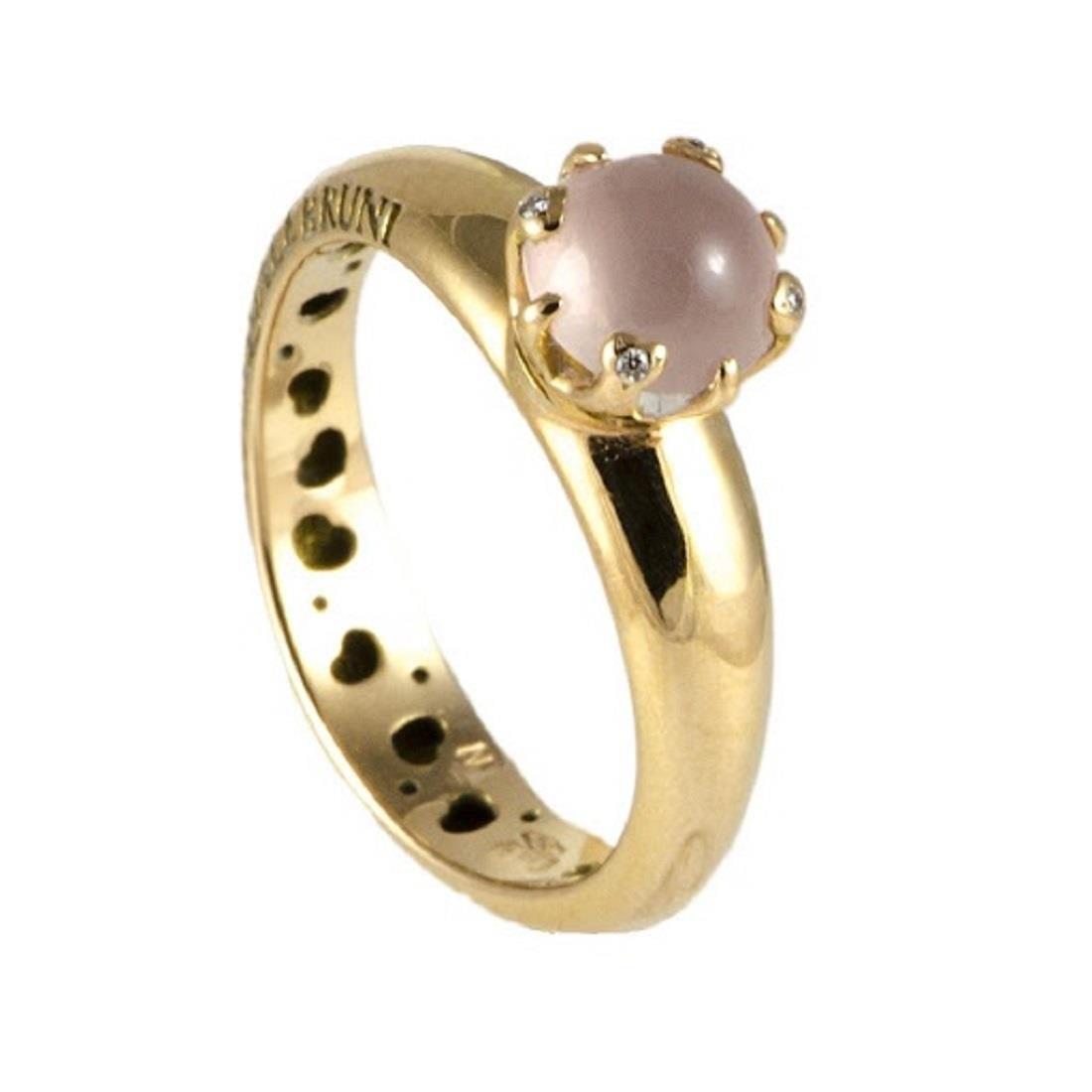 Anello con quarzo rosa e diamanti - PASQUALE BRUNI