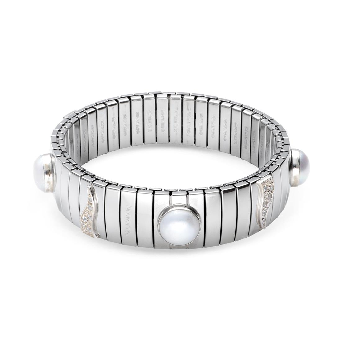 Bracciali con zirconi e perla - NOMINATION