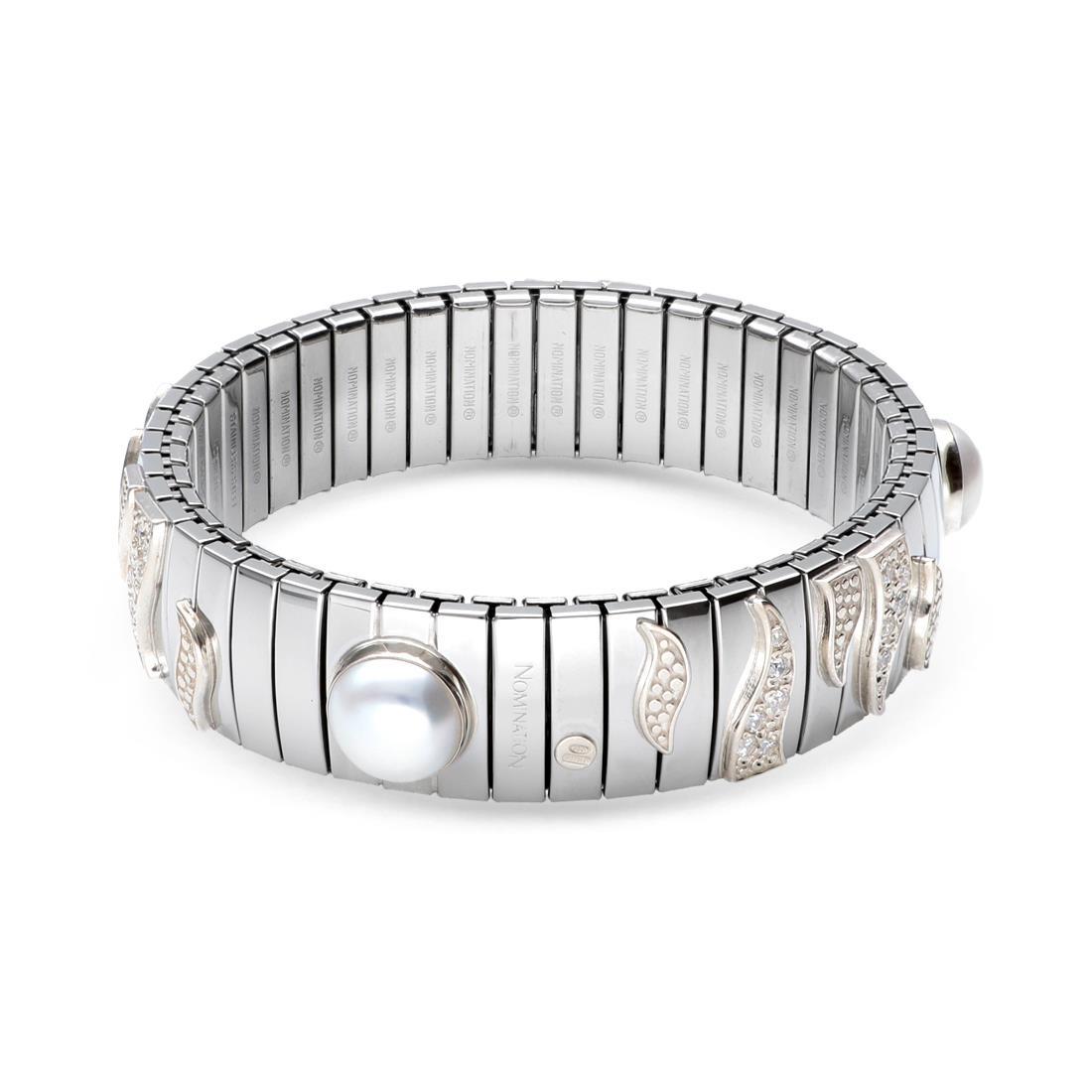 Anello con zirconi e perla - NOMINATION
