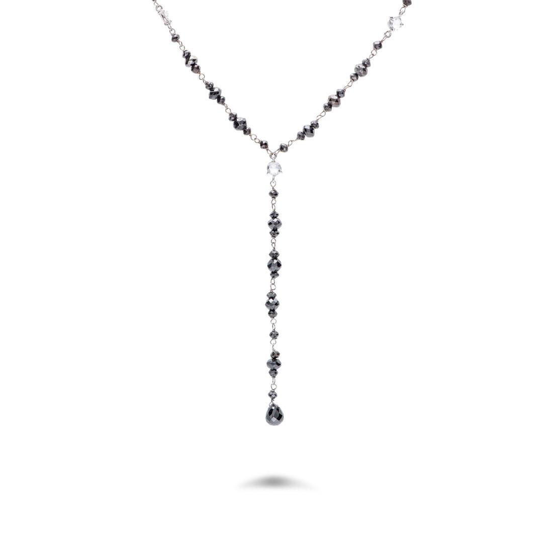 Collar de diamantes negros - ORO&CO