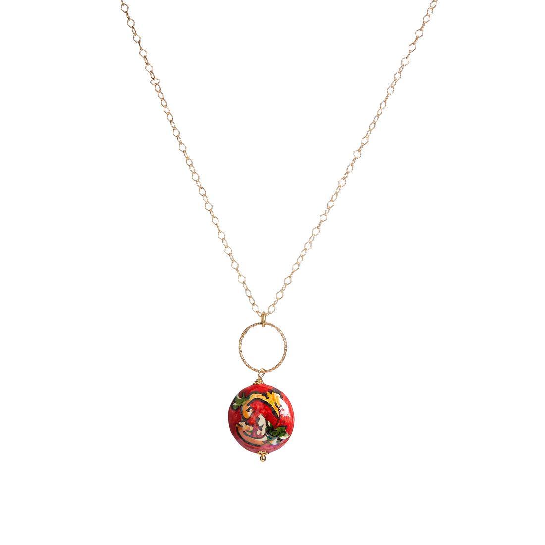 Collana in argento e ceramica - LE PERLE DI CALTAGIRONE