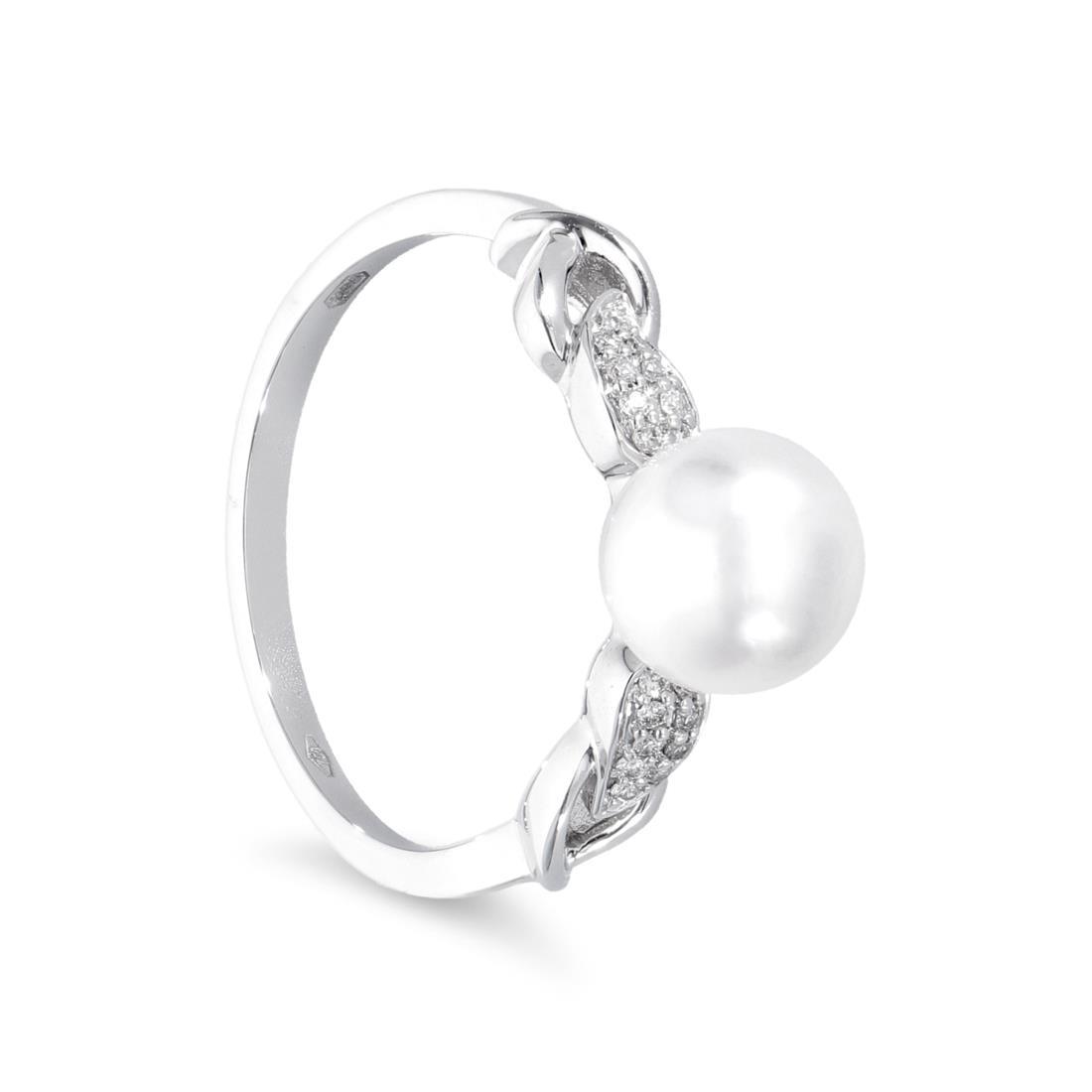 Anello con perla Akoya - MAYUMI