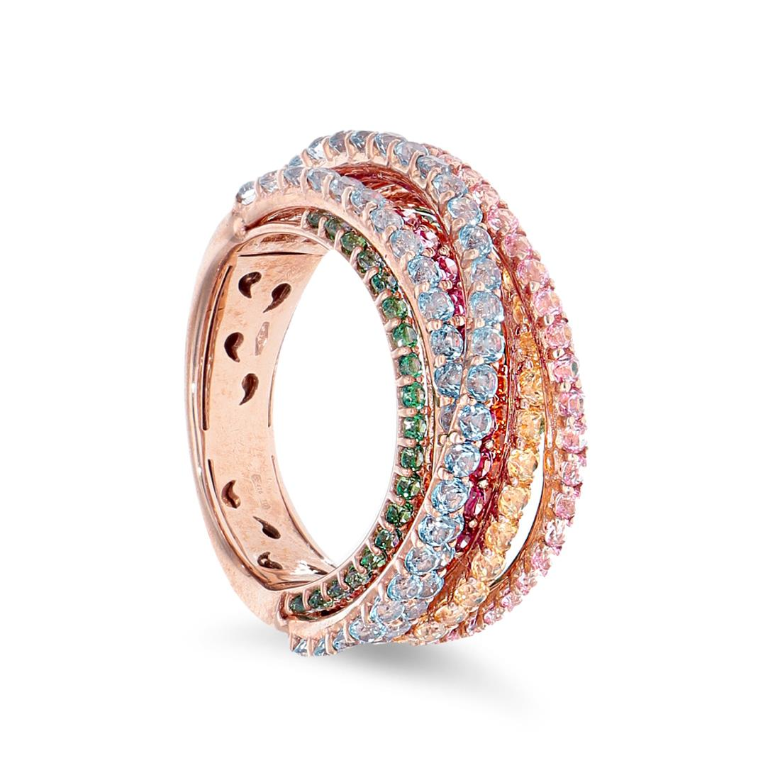 Ring with multicolor topaz - ROBERTO DEMEGLIO