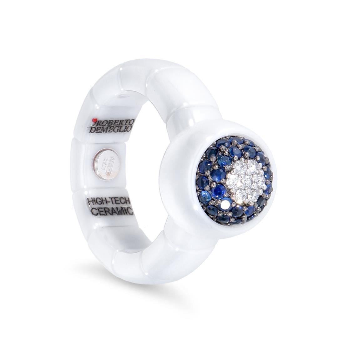 Anello con zaffiri e diamanti - ROBERTO DEMEGLIO
