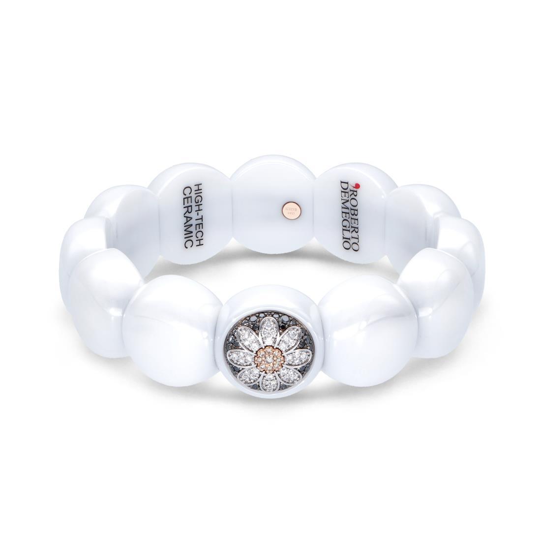 Bracciale in ceramica e diamanti - ROBERTO DEMEGLIO