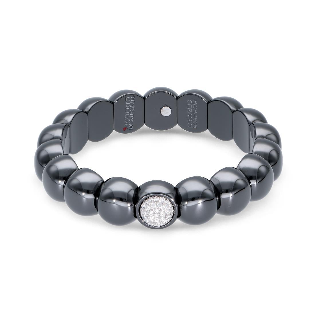 Ceramic and diamond bracelet - ROBERTO DEMEGLIO