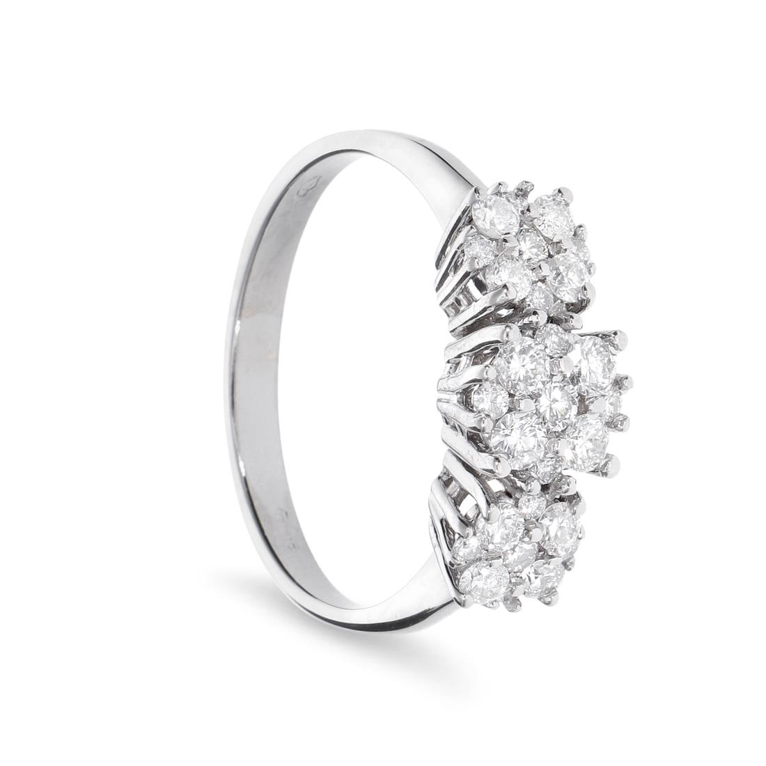 Anello trilogy con diamanti - ORO&CO