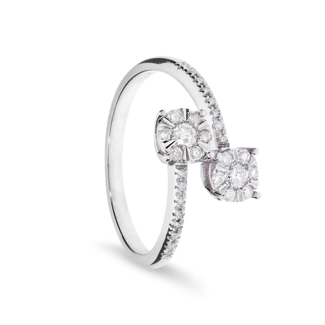 Anello contrariè con diamanti - ORO&CO