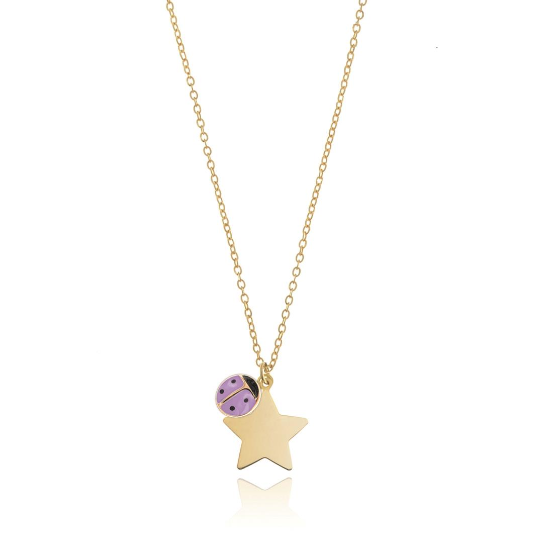 Collana in oro giallo 18 kt con pendente stella - ELLA