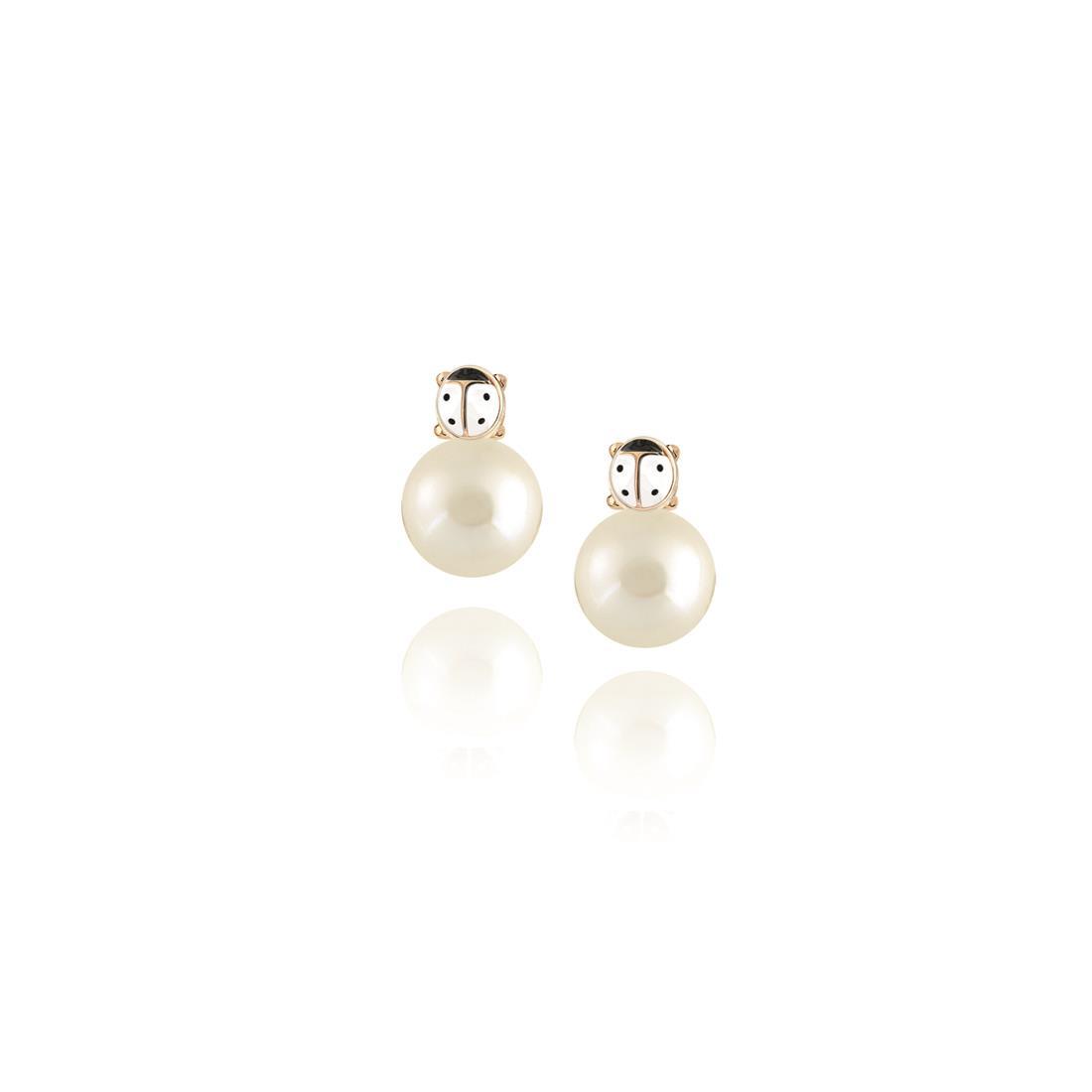 Orecchini in oro 18 kt con perla - ELLA
