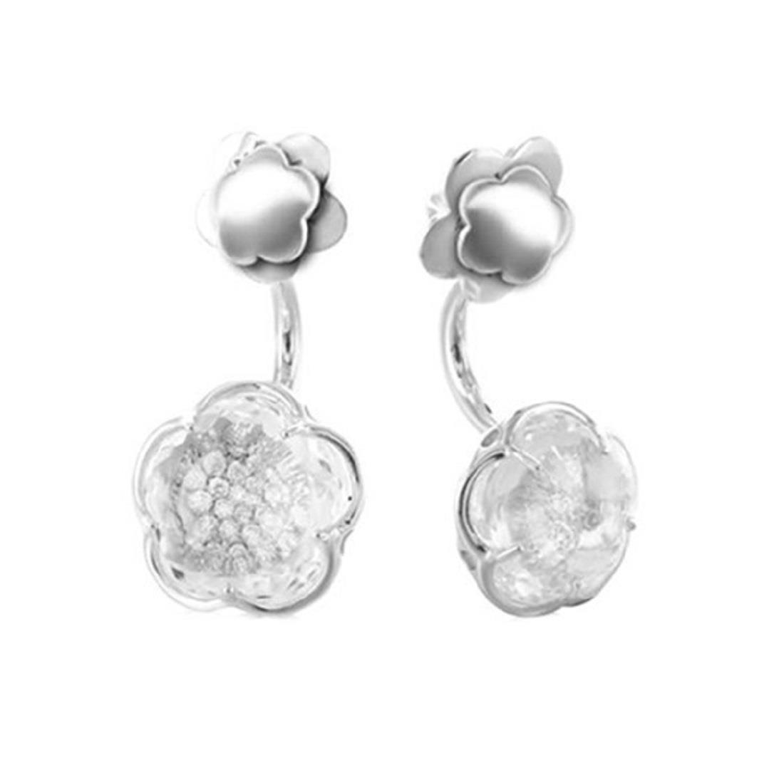 Orecchini con diamanti e cristallo di rocca - PASQUALE BRUNI