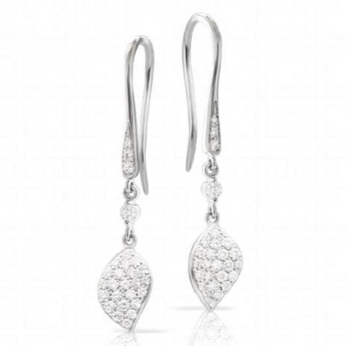 Orecchini pendenti in oro bianco e diamanti - PASQUALE BRUNI