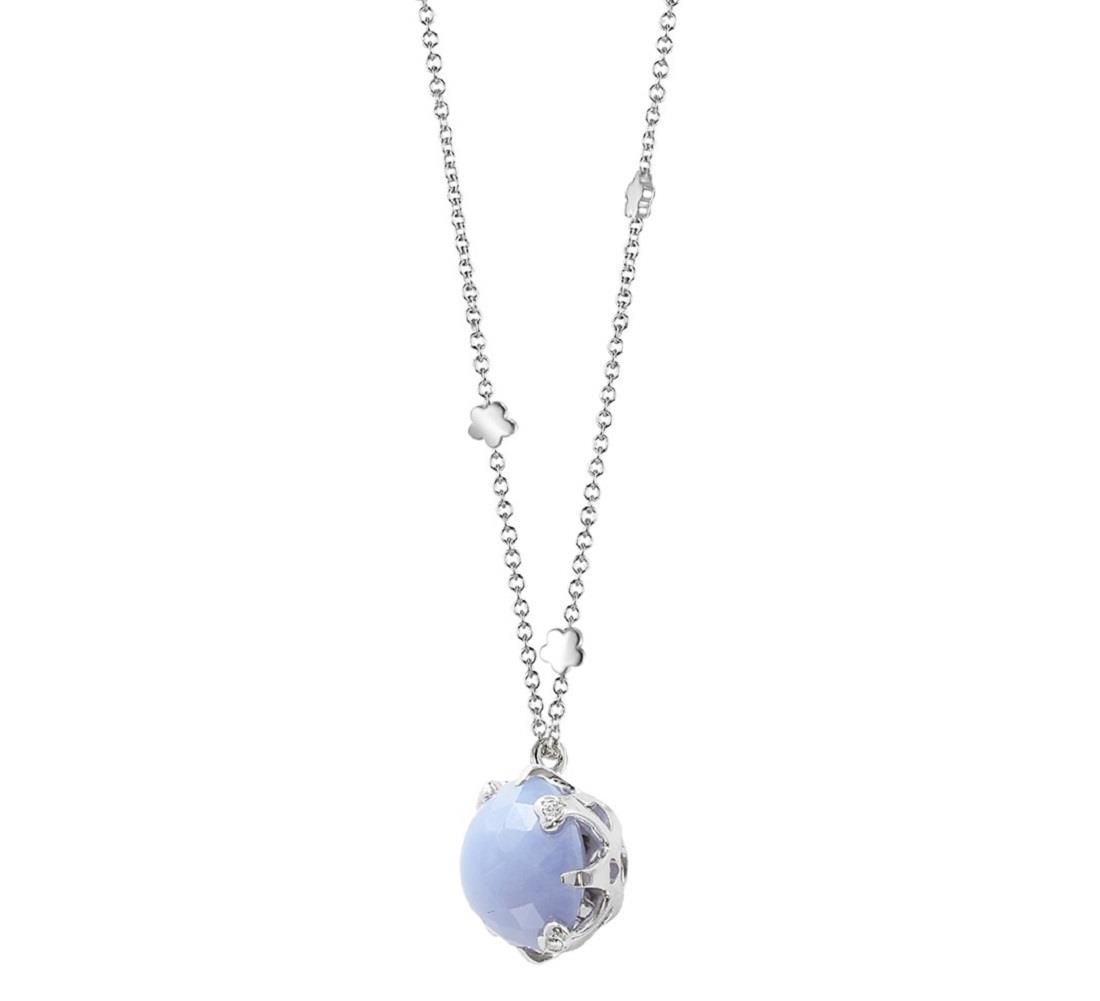 Necklace with chalcedony pendant - PASQUALE BRUNI