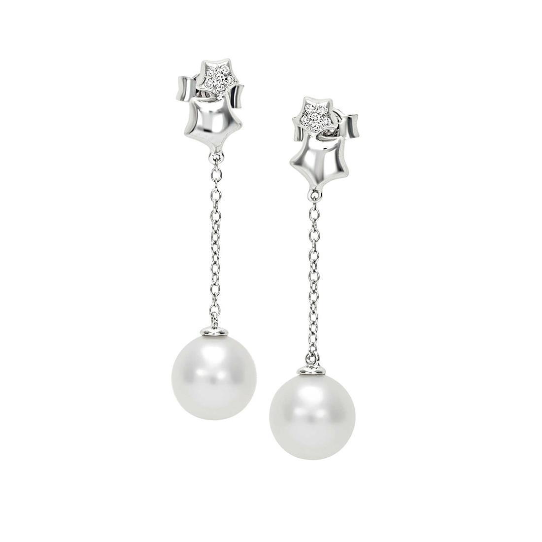 Orecchini con diamanti e perla - BLISS