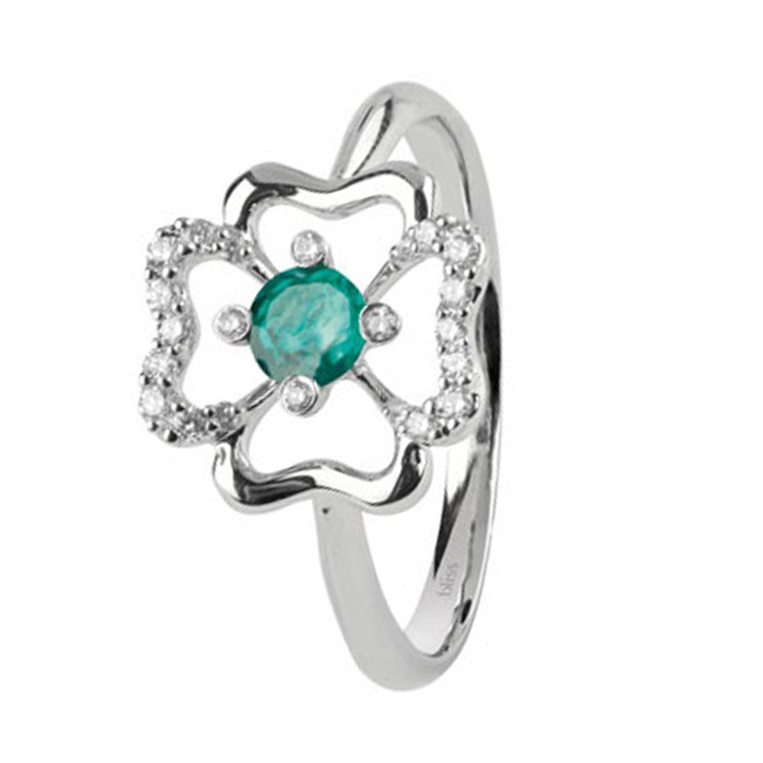 Anello con diamanti e smeraldo - BLISS