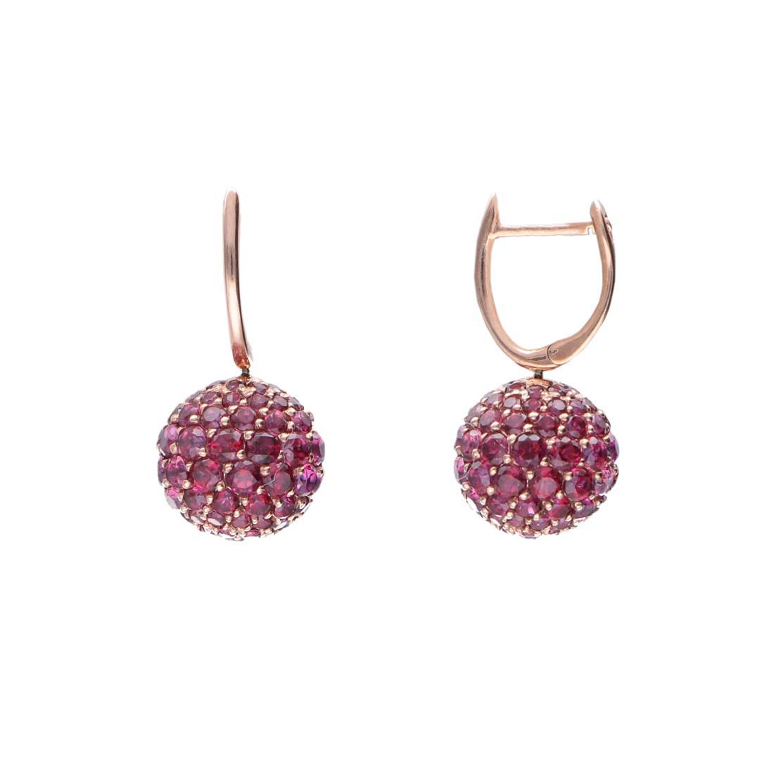 Orecchini pendenti con topazio rosa - ROBERTO DEMEGLIO