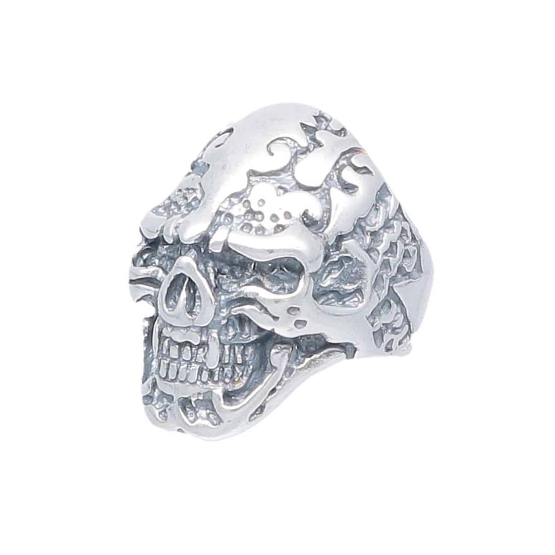 Anello uomo in argento design teschio - ORO&CO 925