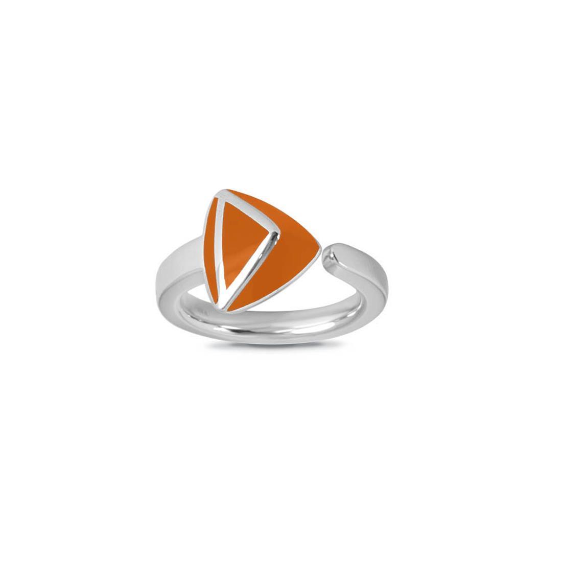 Anello con smalto arancione - ALFIERI & ST. JOHN 925