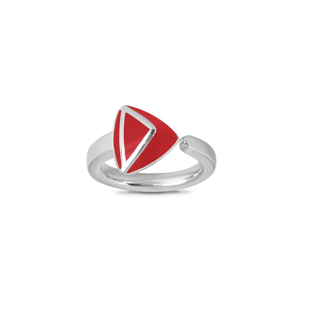 Anello con smalto rosso - ALFIERI & ST. JOHN 925