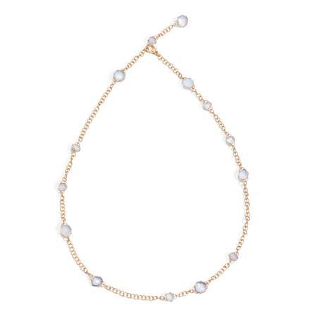 Collana in oro rosa con cristallo di rocca e calcedonio - POMELLATO