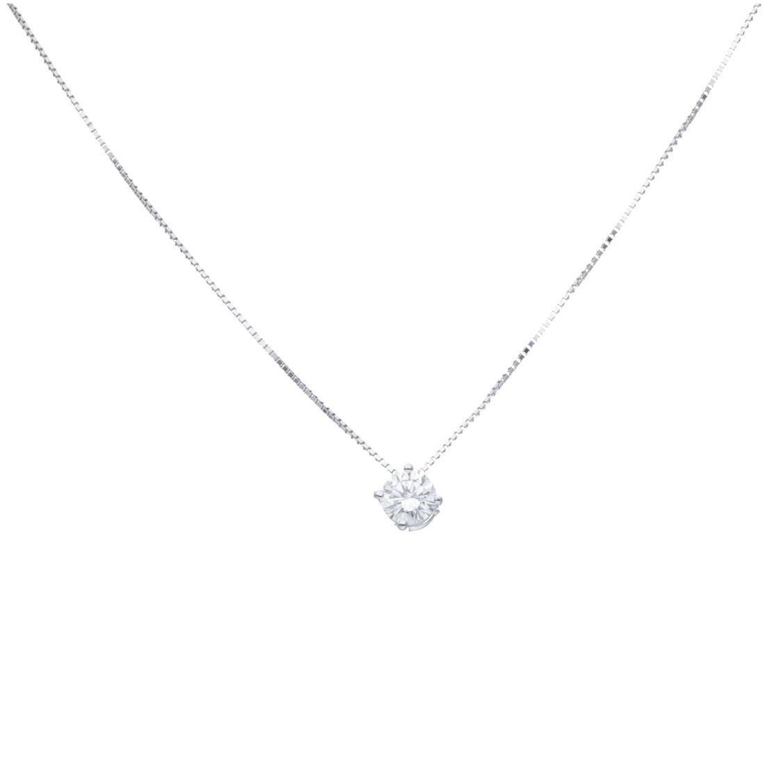 Collana punto luce con diamanti ct. 0,80 - ALFIERI & ST. JOHN
