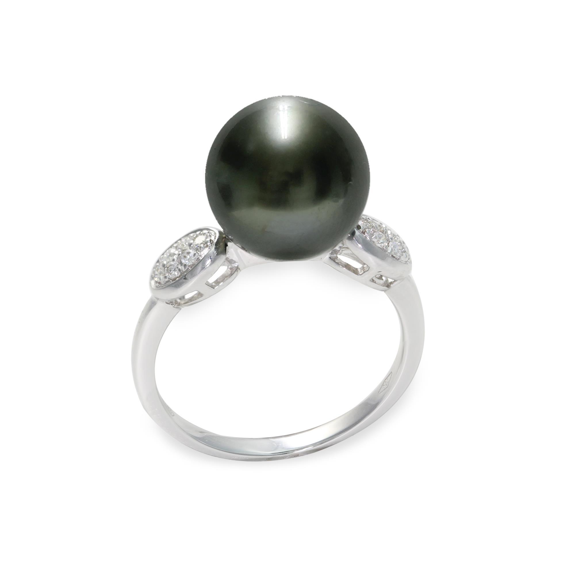 Anello con diamanti e perla tahitiana - MAYUMI