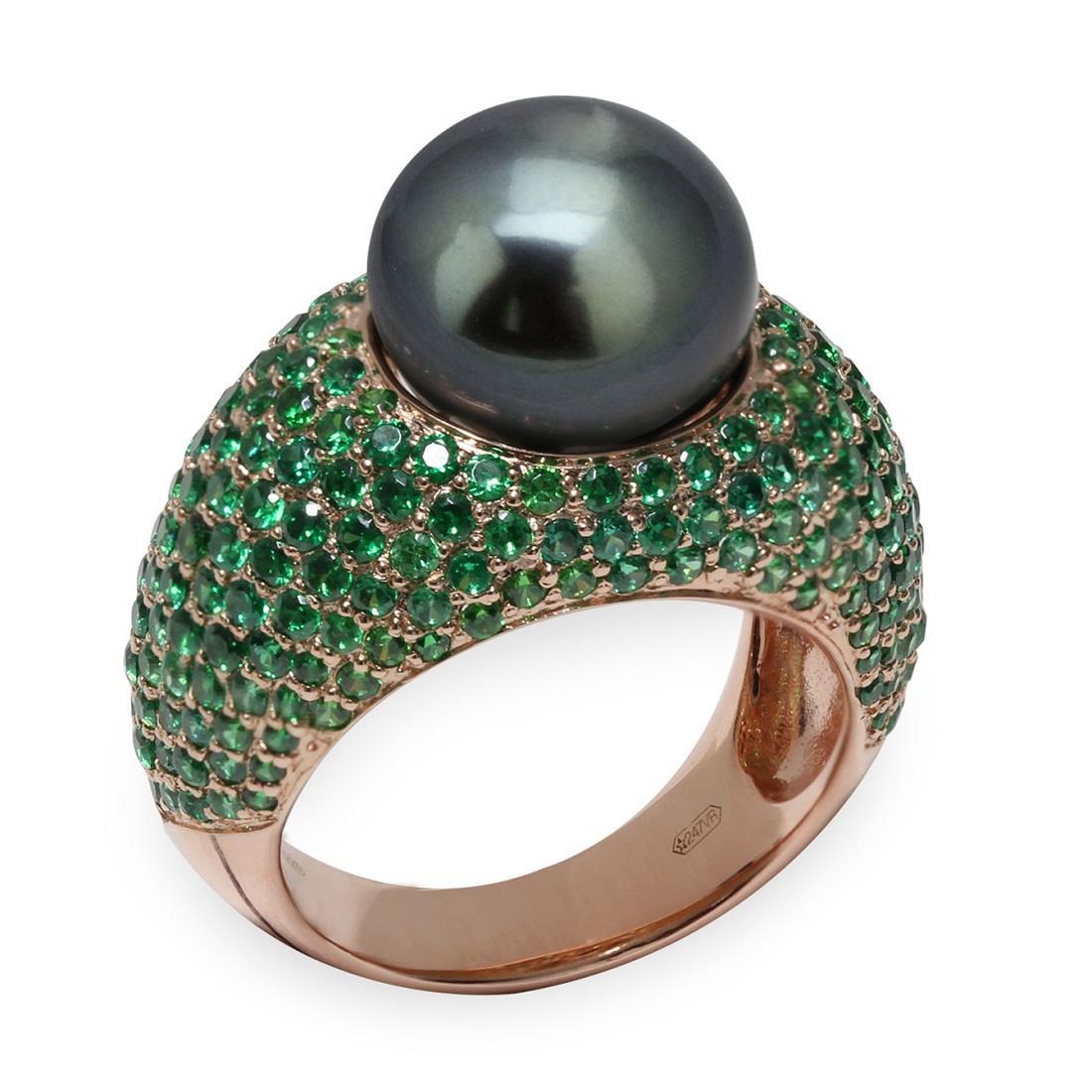 Anello con perla di Thaiti - MAYUMI